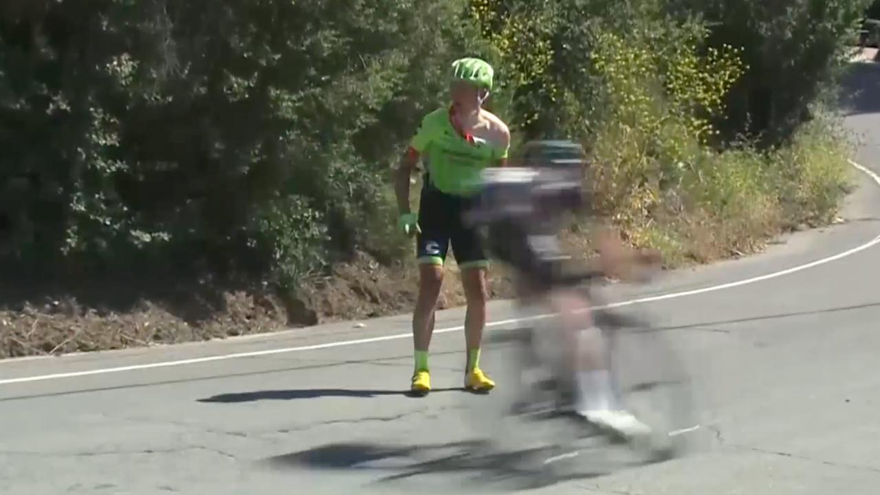 Wielrenner Skujins verdwaasd na zware val in Californië