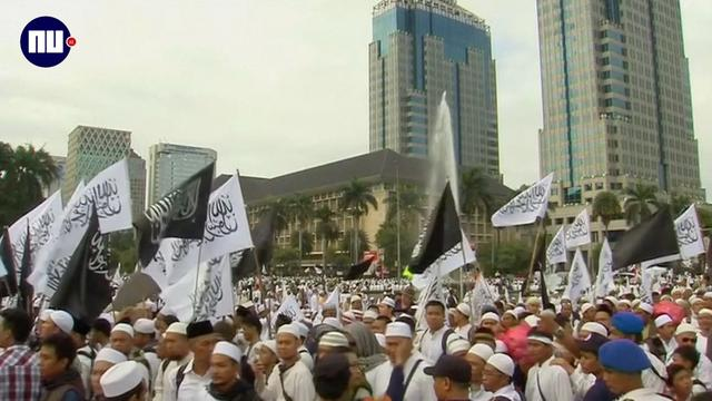 Tienduizenden moslims protesteren tegen gouverneur Jakarta