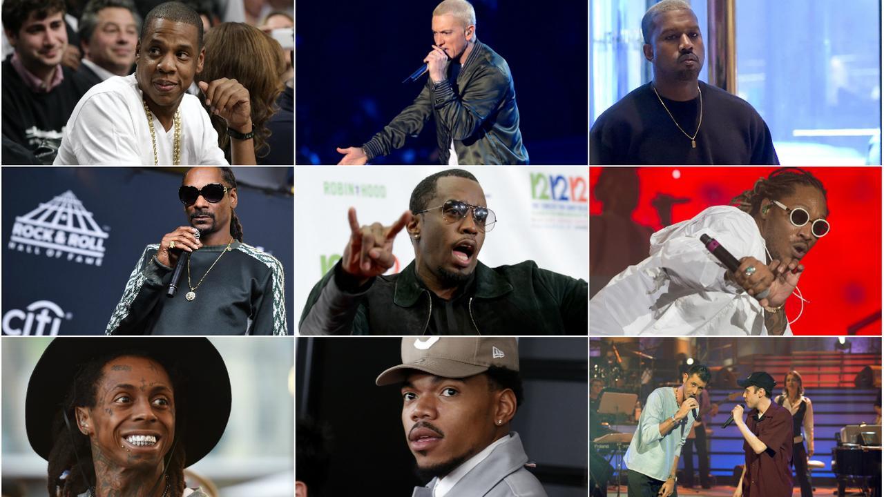 De drie rijkste hiphopartiesten volgens zakenblad Forbes