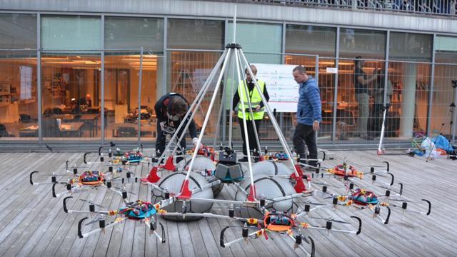Drone zet wereldrecord neer door 61 kilo te tillen