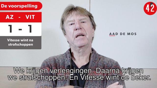 Vooruitblik: Gaat AZ of Vitesse de beker winnen?