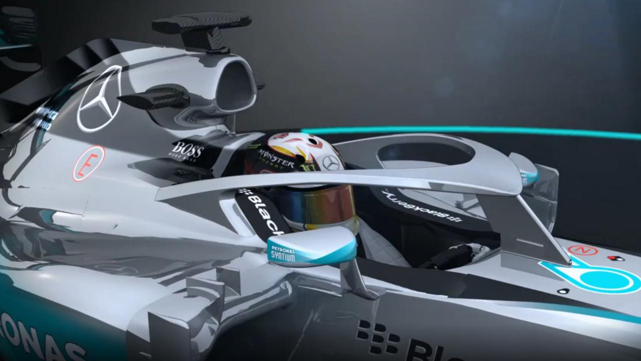 Gesloten cockpit Formule 1-auto: Halo concept