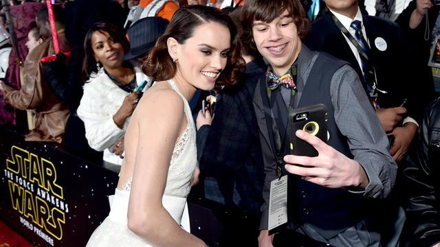 Enorme drukte rond première Star Wars in Los Angeles