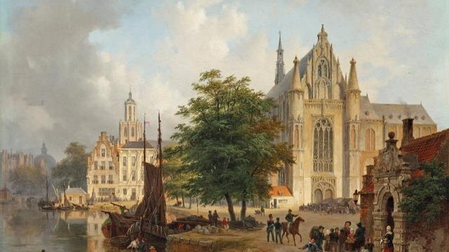 Bijzonder stadsgezicht met Hooglandse Kerk onder de hamer