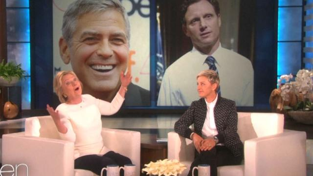 Hillary Clinton grapt over George Clooney als vicepresident