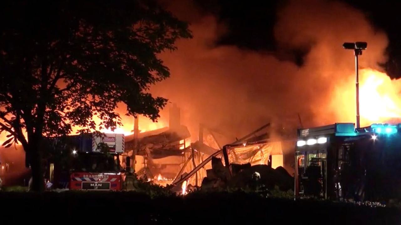 Voormalig restaurant uitgebrand in Elst