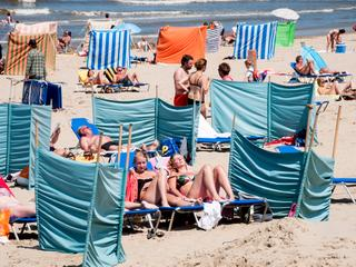 Temperaturen van 25 graden gemeten in Ell en Hoek van Holland