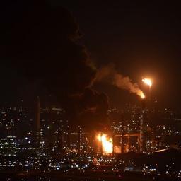 Grote brand bij raffinaderij in Botlek