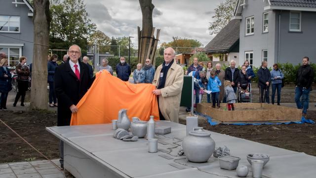 Onthulling kunstwerk Limes in Leiderdorp