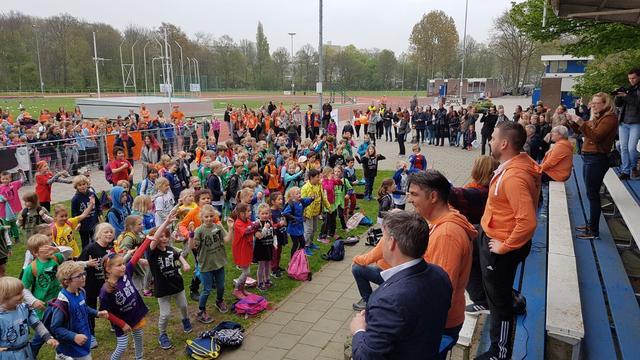 Duizenden Leidse schoolkinderen op Koningsspelen