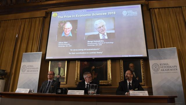 Oliver Hart en Bengt Holmström krijgen Nobelprijs voor Economie