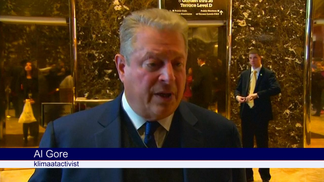 Klimaatactivist Al Gore: 'Gesprek met Trump extreem interessant'