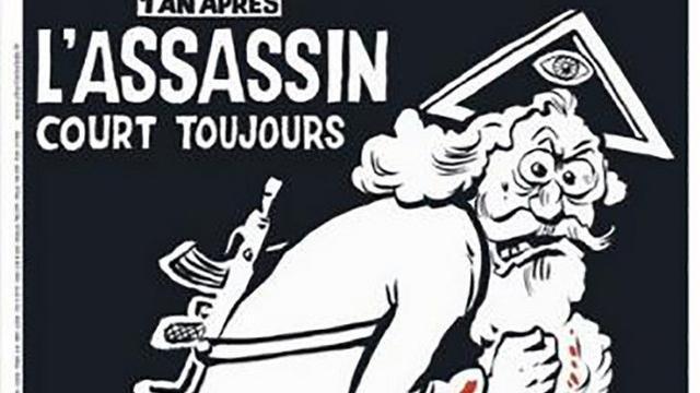 God op de omslag van Charlie Hebdo jaar na aanslag