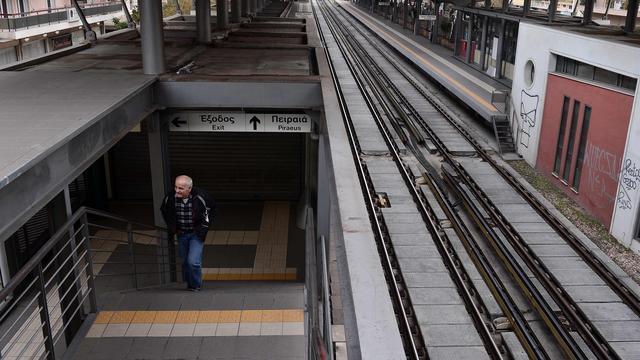 Grote staking in Griekenland vanwege bezuinigingen op pensioenen