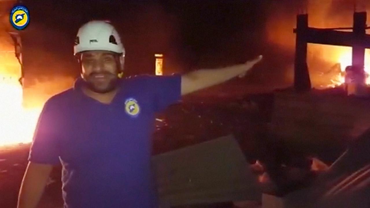 Hulpverlener beschrijft ravage na luchtaanval op voedseltrucks Aleppo