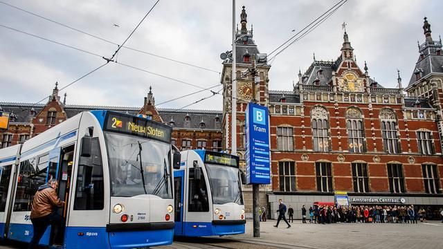 Negen trams krijgen nieuwe route in Amsterdam