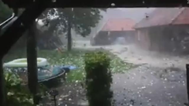 Zware onweer en hagelbuien in Noord-Brabant