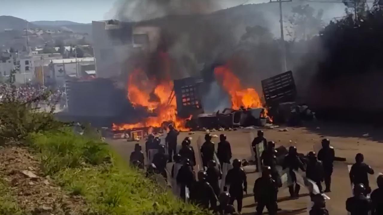 Lerarenprotest Mexico loopt uit de hand