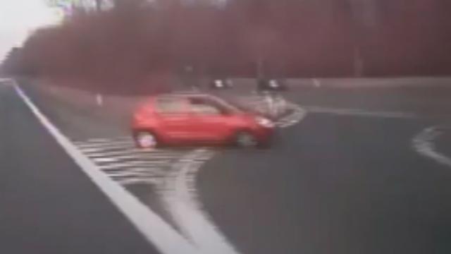 Automobilist gebruikt oprit als afrit op Belgische snelweg