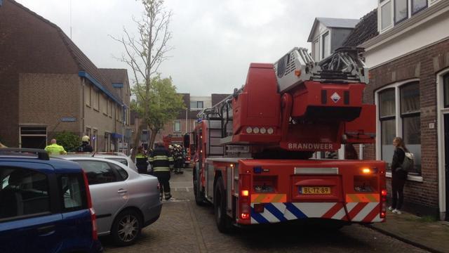Woningbrand aan de Bloemstraat in Oudwijk
