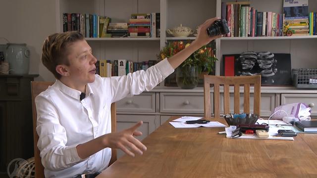 Gehandicapte Tijmen deelt positieve vlogs