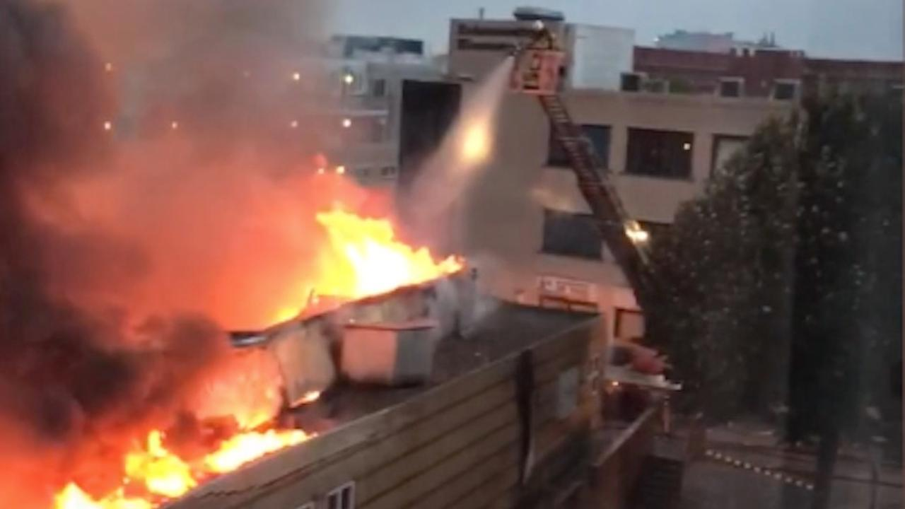 Grote brand in voormalige dansschool Nieuwegein
