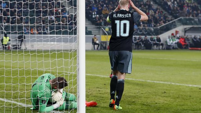 Klaassen houdt 'rotgevoel' over aan gelijkspel tegen Legia Warschau