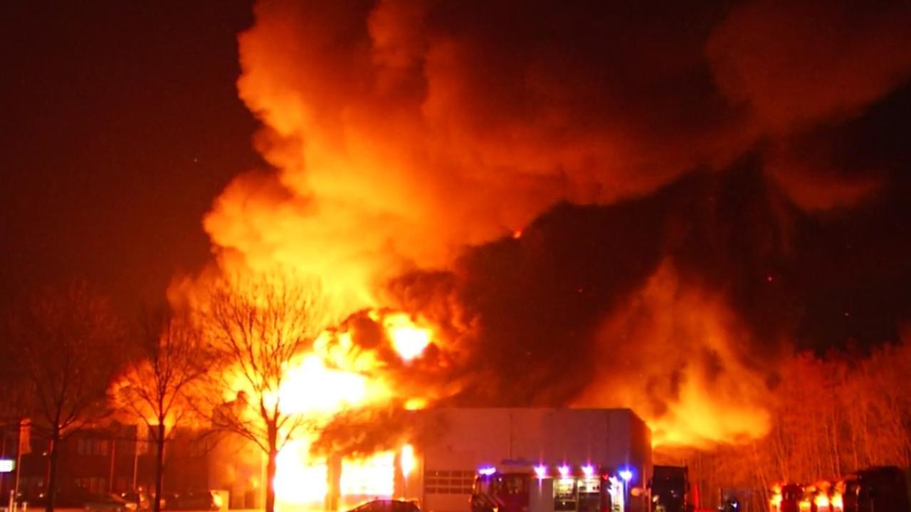 Explosies bij brand in Duiven