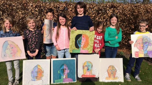Kinderen exposeren in Galerie 11 in Zundert