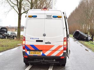 De weg tussen Alphen en de rotonde bij Aarlanderveen is afgesloten