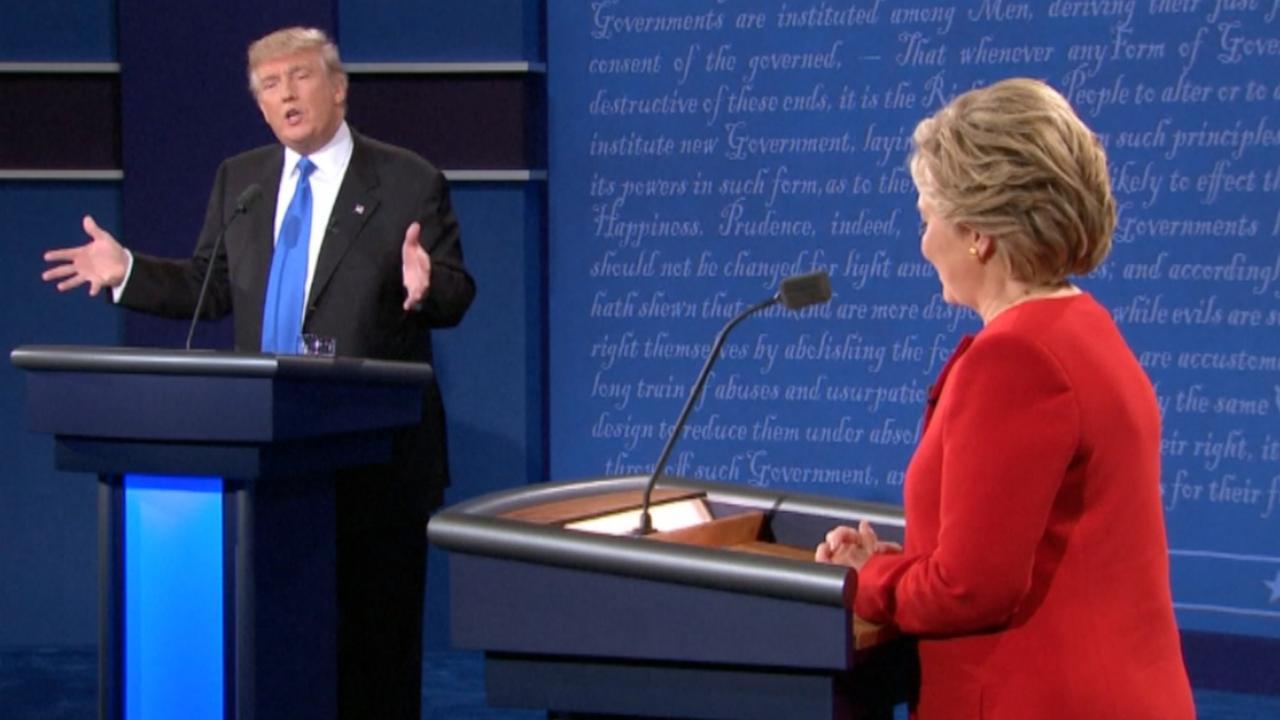 De opvallendste momenten uit de debatten tussen Clinton en Trump