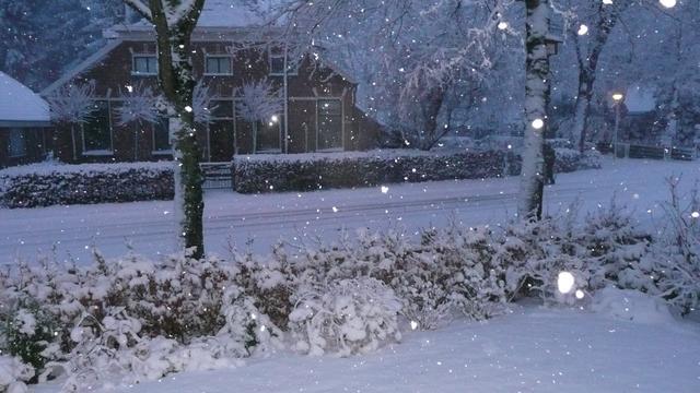 Sneeuw, gladheid en harde wind: code geel in Groningen