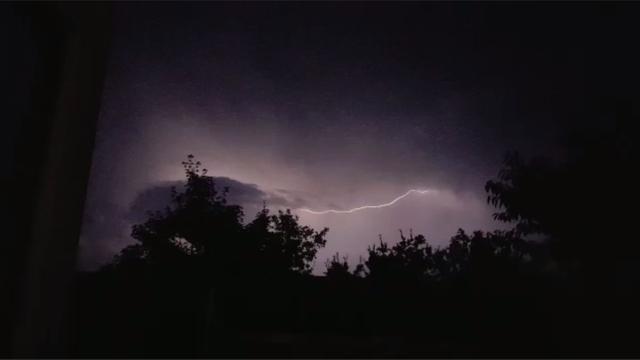 Onweer boven Nederland