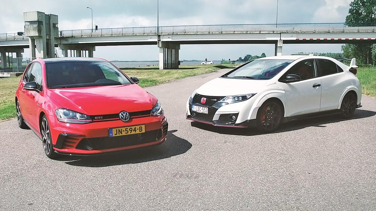 VW Golf GTI Clubsport vs Honda Civic Type R