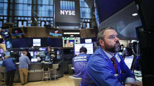 Wall Street in het rood