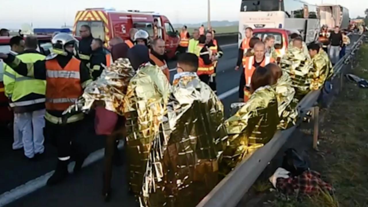 Ravage na ongeval met Nederlandse bus in Frankrijk