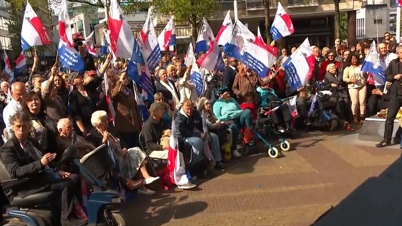 Drukte bij herdenking Pim Fortuyn in Rotterdam