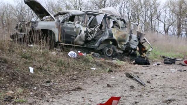 Landmijn zorgt voor ravage en dode in Oekraïne