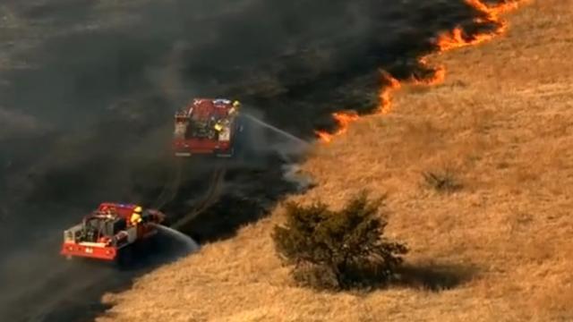 Brandweer Oklahoma heeft handen vol aan natuurbrand