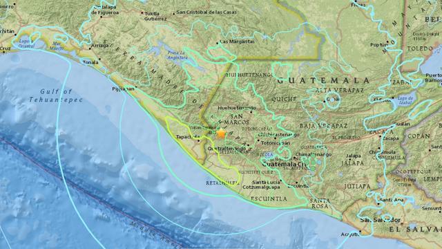 Zware aardbeving treft steden in grensgebied tussen Mexico en Guatemala
