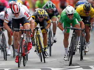 Britse sprinter ternauwernood te sterk voor Greipel