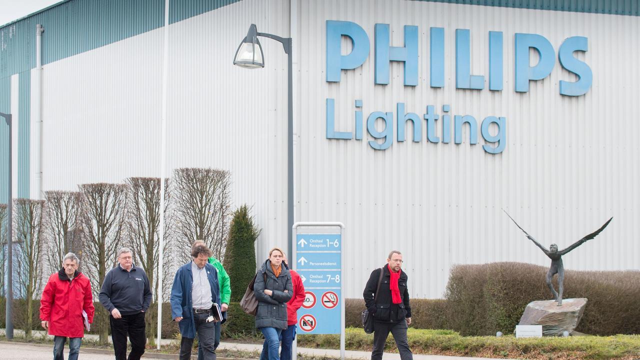 Lichtdivisie Philips naar de beurs in Amst