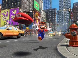 Tweede speler bestuurt de pet van Mario
