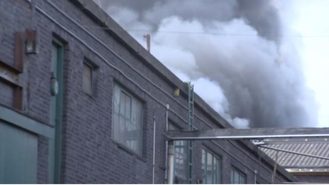 Grote brand in machineloods Vlaardingen