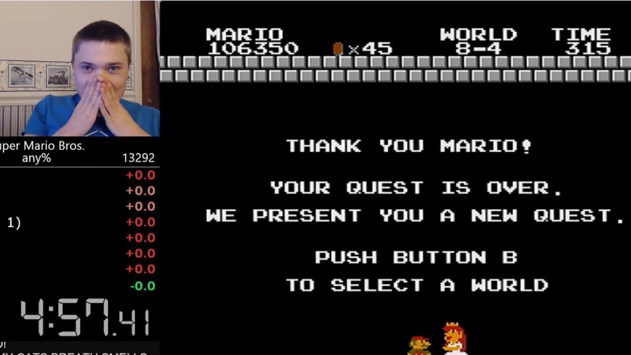 Gamer speelt Super Mario uit binnen vijf minuten
