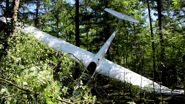 Zweefvliegtuigje crasht in bosperceel bij Malden
