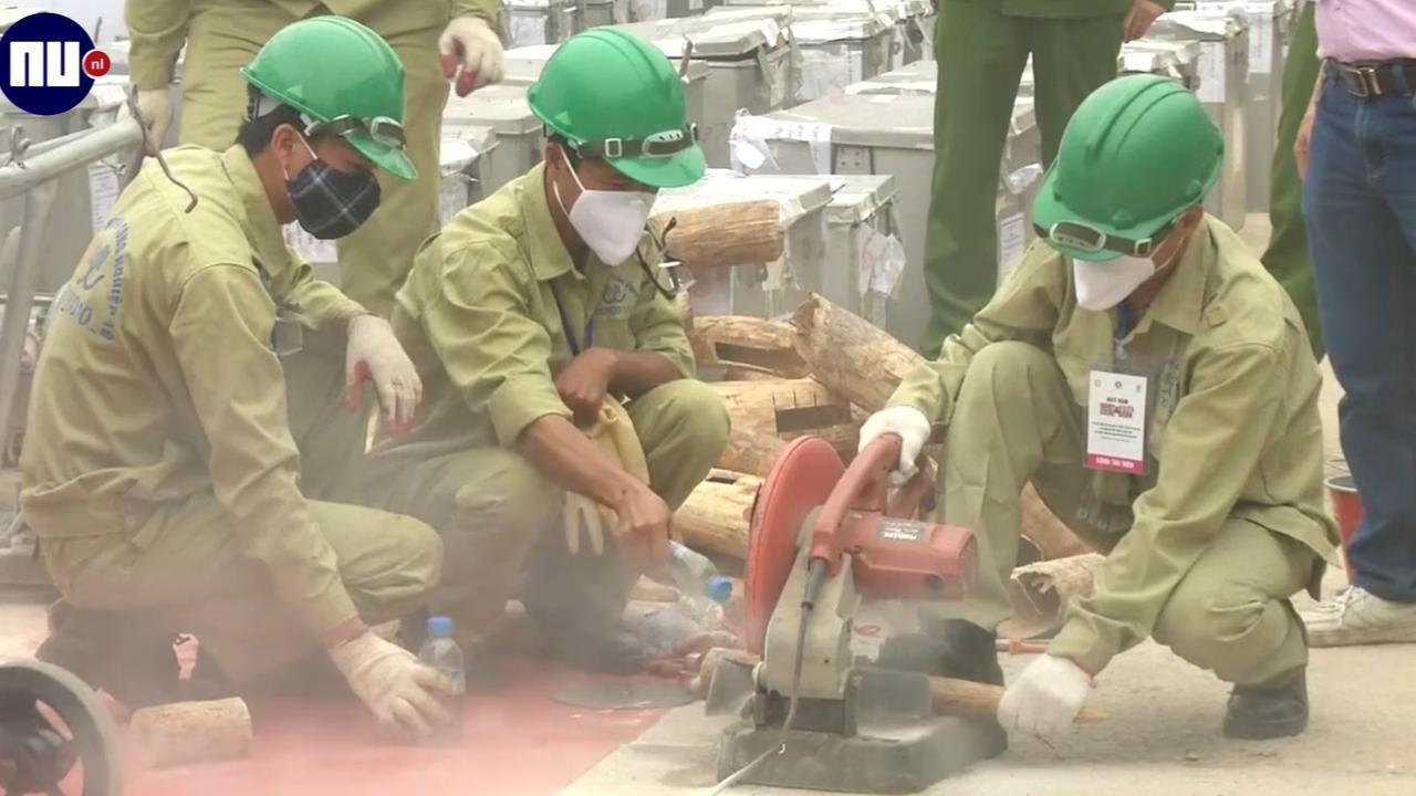 Vietnam vernietigt ruim twee ton slagtanden en hoorns