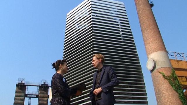 Kunstenaar Daan van Roosegaarde opent 'smogtoren' in Peking