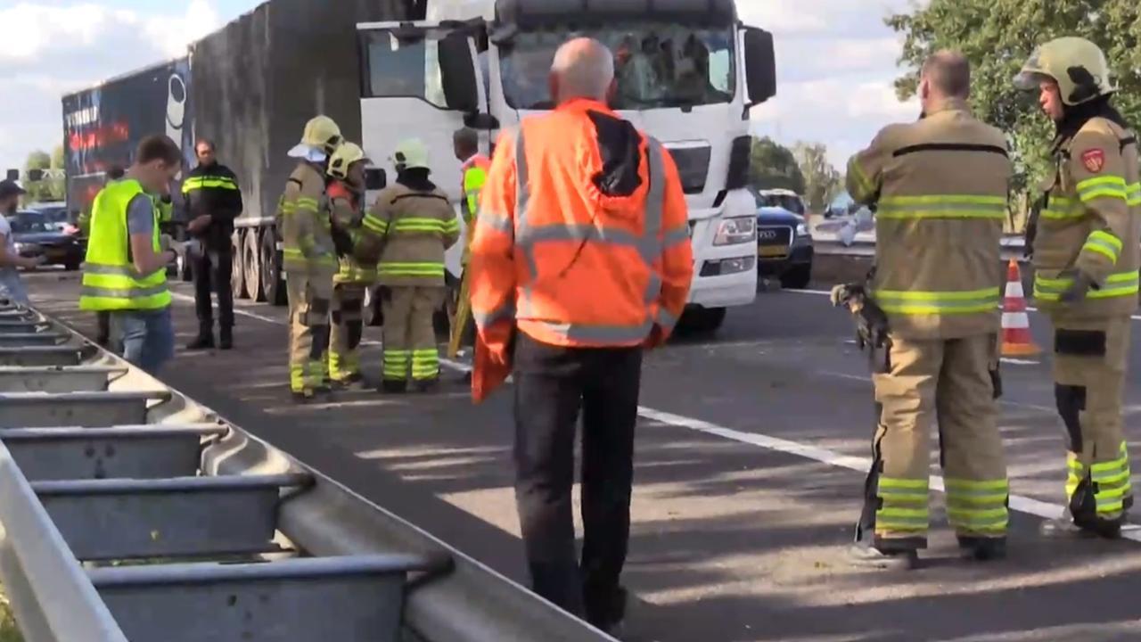 Vertraging op de A12 na meerdere ongelukken