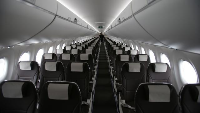 Vliegtuig voor zwaardere passagiers ontworpen